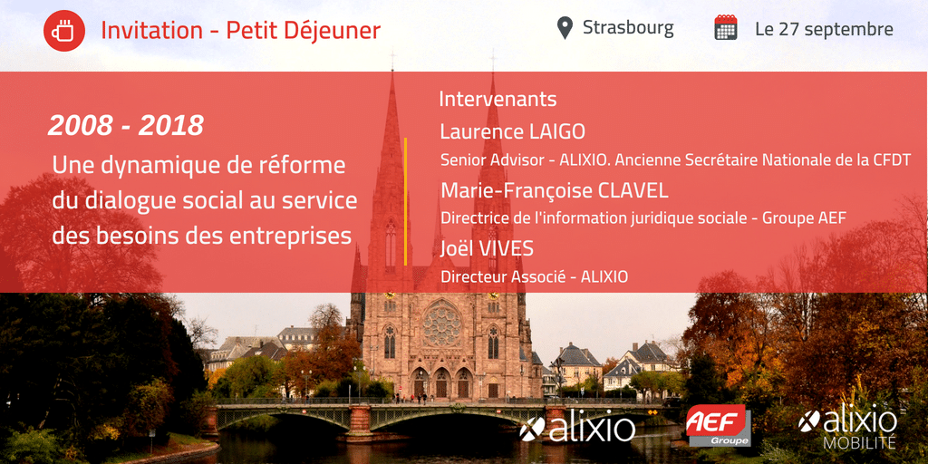 Invitation petit-déjeuner Strasbourg : Évolutions du dialogue social