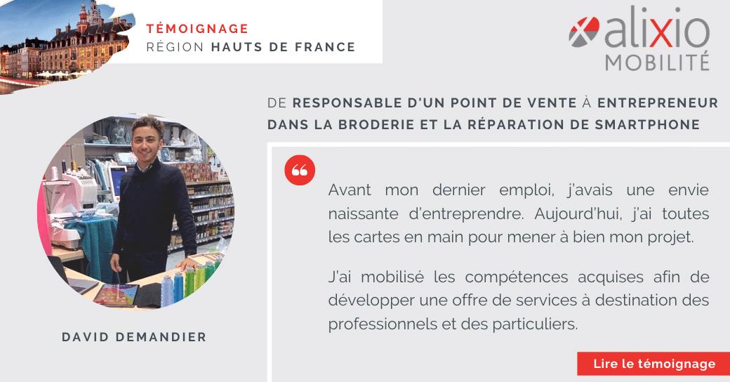 """Témoignage en région Hauts de France : """"une envie naissante d'entreprendre"""""""
