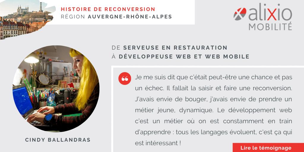 Témoignage en région Auvergne-Rhône-Alpes : «J'avais envie d'apprendre un métier tourné vers l'avenir : le développement web»