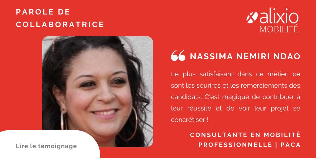Portrait de collaboratrice : Nassima Nemiri Ndao, consultante en mobilité chez Alixio Mobilité PACA