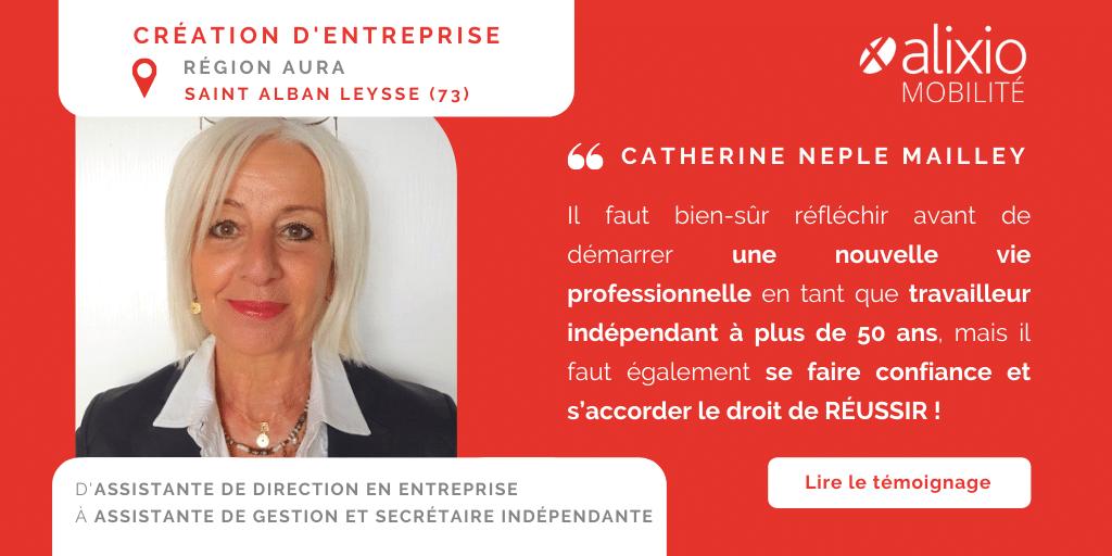 Témoignage de Catherine, créatrice d'une entreprise de gestion administrative