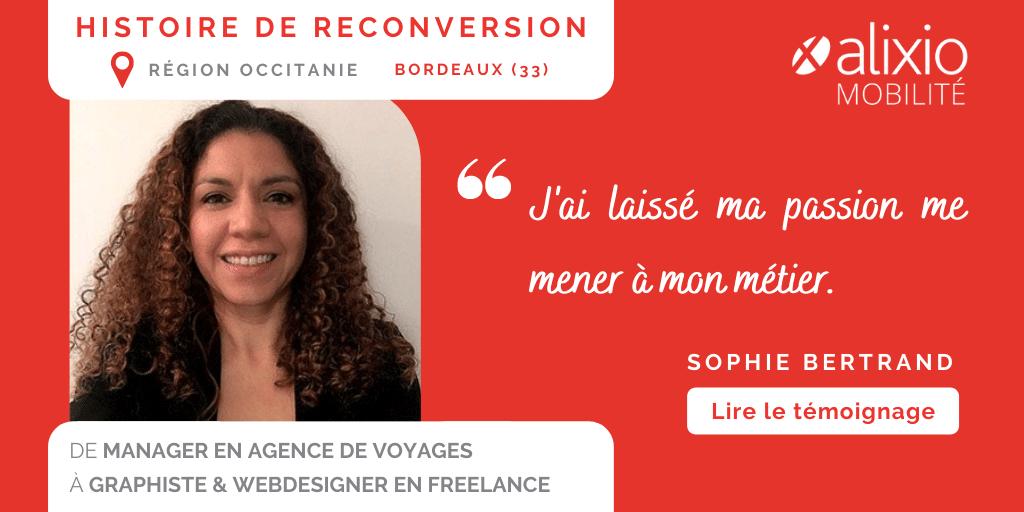 Témoignage de Sophie, accompagnée par Alixio Mobilité dans sa reconversion à Bordeaux